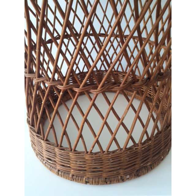 McGuire Vintage McGuire Rattan Round Side Table For Sale - Image 4 of 5