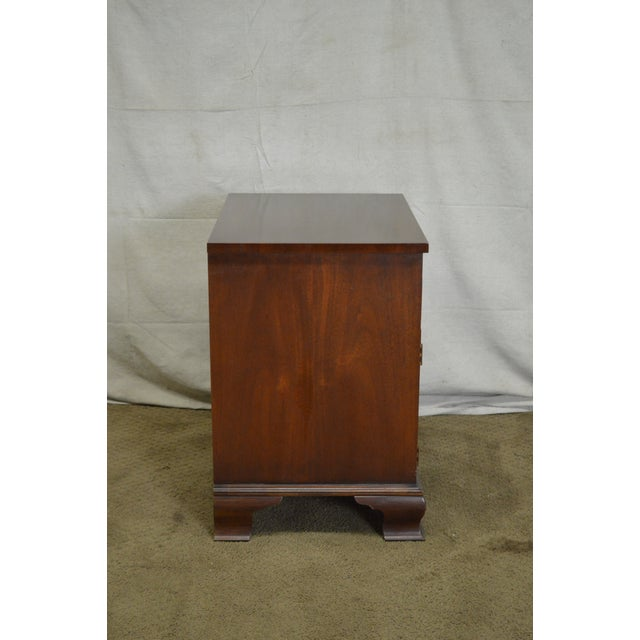 Baker Chippendale Style Mahogany Nightstand - Image 3 of 11