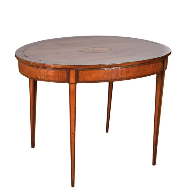 19th century inlaid walnut occasional table chairish for Table th width