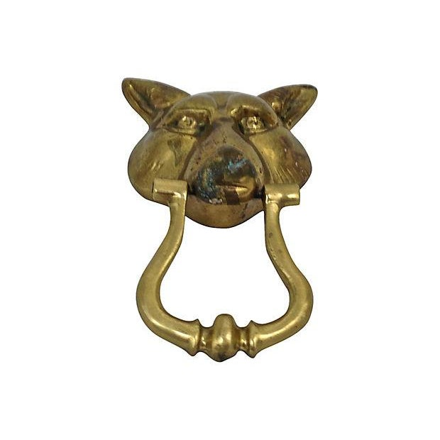 Brass Wolf Head Door Knocker - Image 2 of 4