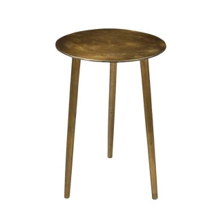 Round Brass Side Table For Sale