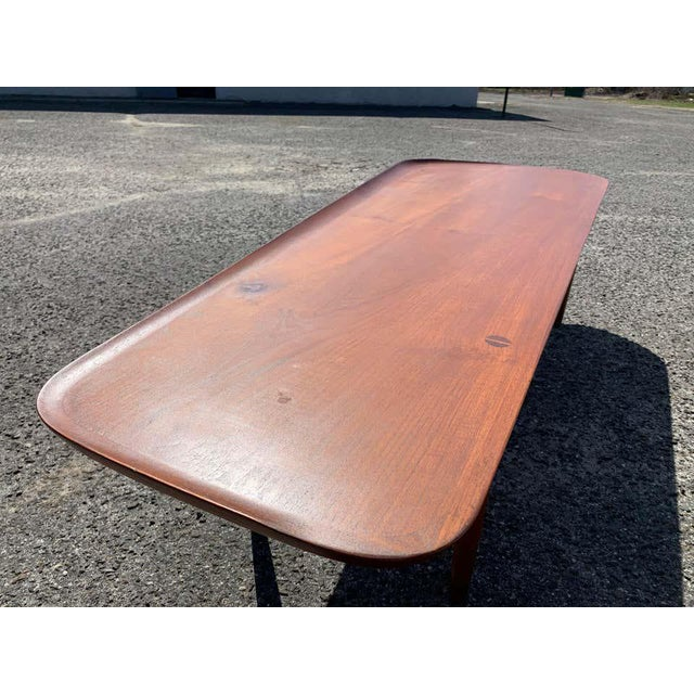 Hovmand-Olsen for Jutex Teak Coffee Table, Denmark, 1950s For Sale - Image 4 of 13