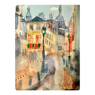 Montmartre Dirty Watercolor Sketch