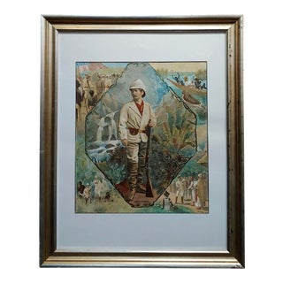 Stanley in Africa Looking for Livingstone-Original Silkscreen Lithograph For Sale