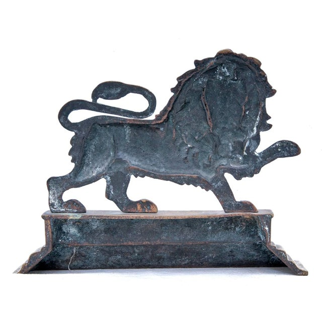 Traditional 19th Century Victorian English Lion Door Stop For Sale - Image 3 of 4