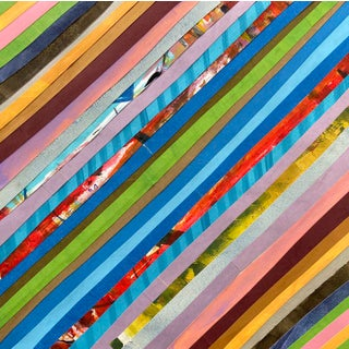 """Racing Stripes"" Original Collage by Jelly Chen For Sale"