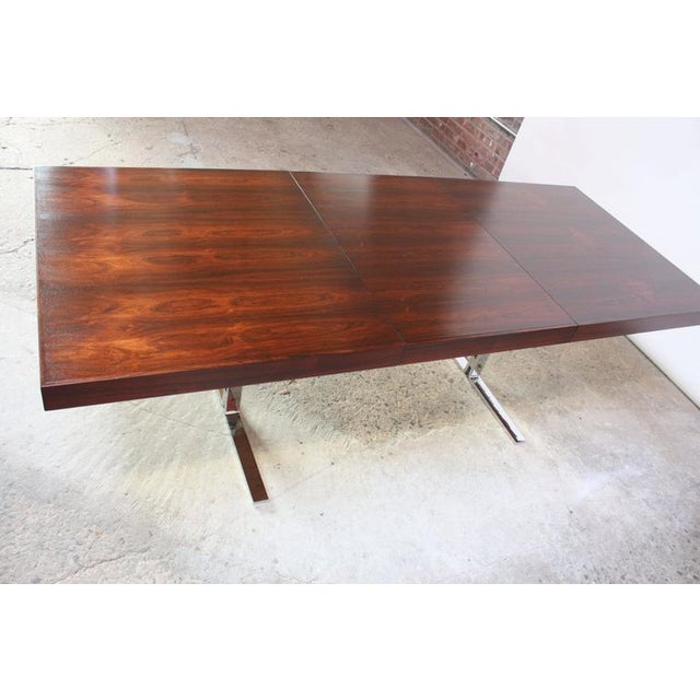 Silver Poul Nørreklit Low Rosewood Extension Table for Georg Petersens For Sale - Image 8 of 10
