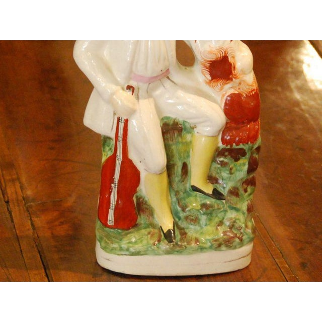 Staffordshire 19th Century English Staffordshire Figure For Sale - Image 4 of 4