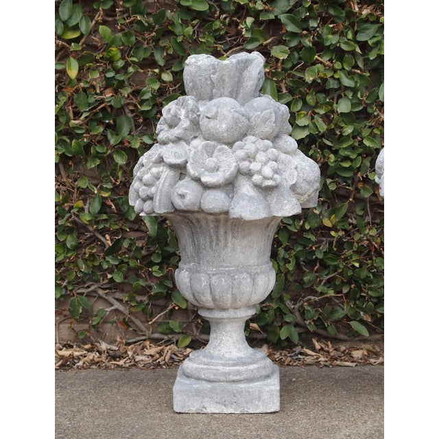 Italian Recomposed Limestone Fruit and Flower Vases (Sold Individually) For Sale - Image 11 of 13