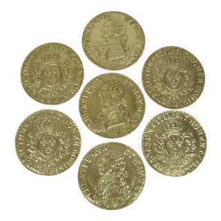 Spanish Colonial Coin Coasters - Set of 7