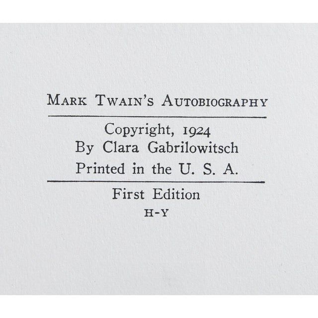 """Booth & Williams 1924 """"Mark Twain's Autobiography 2 Vols."""" Collectible Book For Sale - Image 4 of 6"""