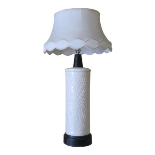 Chinoiserie Blanc De Chine Reticulated Table Lamp