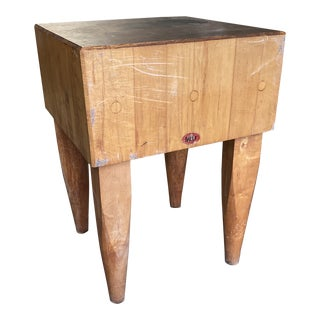 1970s Vintage Butcher Block For Sale