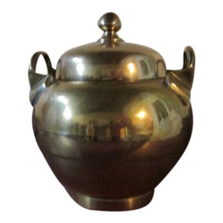 Indian Brass Urn With Lid and Handles