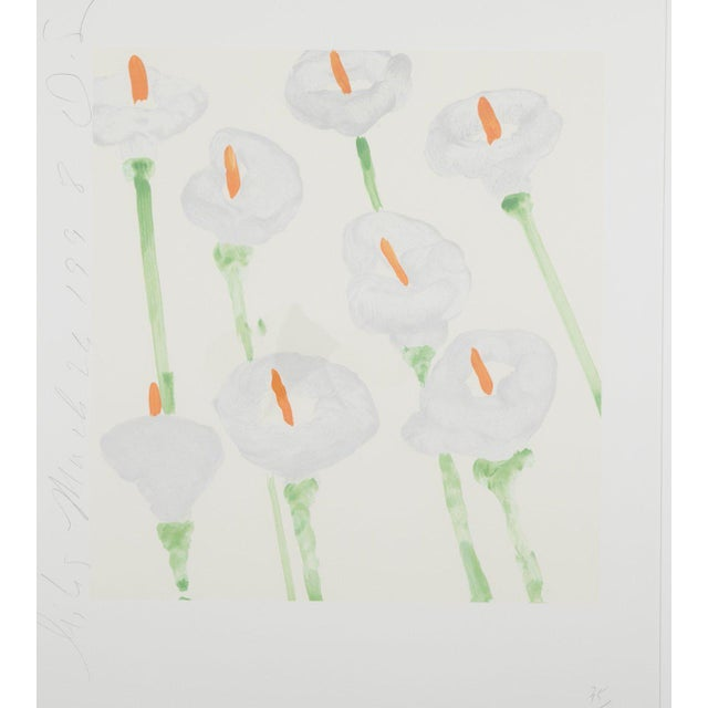 """Late 20th Century Donald Sultan """"Lilies"""" Serigraph on Paper For Sale - Image 5 of 11"""