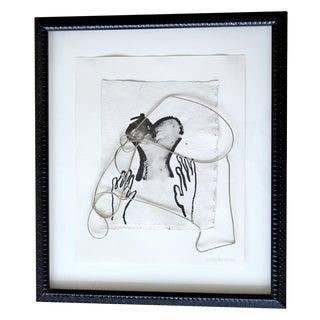 2002 Contemporary Framed Mixed Media Painting For Sale