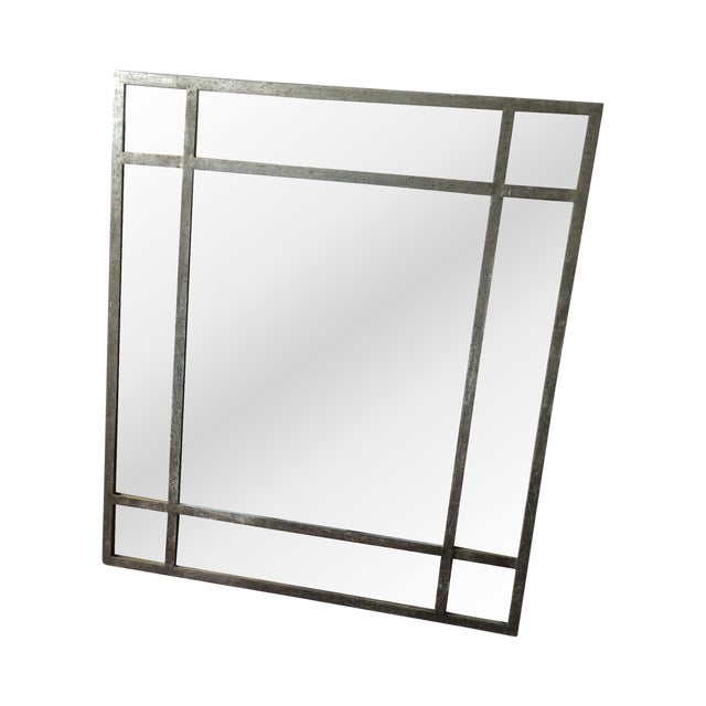 Antique Finish Silver Mirror - Image 1 of 9