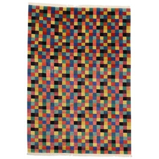 1990s Modern Area Rug With Cubism Style - 9′ × 12′8″ For Sale