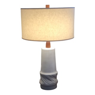 Large Gordon and Jane Martz Glazed Ceramic Lamp With 2 Shades For Sale