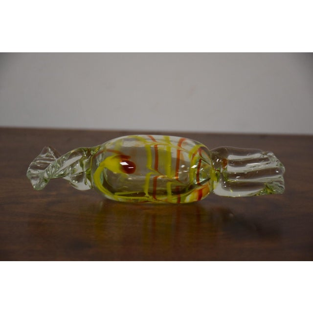 Yellow Murano Glass Candy Object - Image 3 of 6