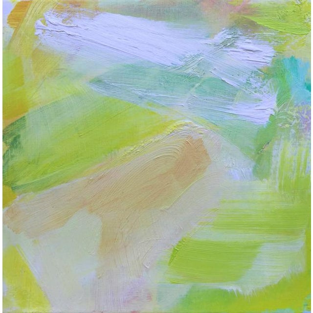 """2010s """"Morning Mist"""" Mini Abstract Oil Painting by Trixie Pitts For Sale - Image 5 of 6"""