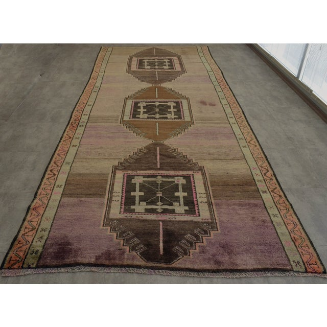 """Turkish Hand-Knotted Runner Rug - 5'7"""" x 13'9"""" - Image 5 of 11"""