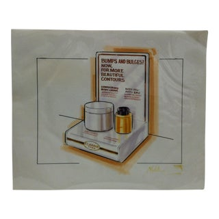 "1980s ""Clarins - Paris"" Displayco East Original Advertising Drawing For Sale"