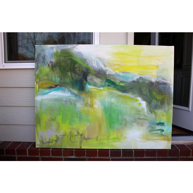 """2010s """"Rocky Mountain Morning"""" by Trixie Pitts Large Abstract Landscape Oil Painting For Sale - Image 5 of 10"""