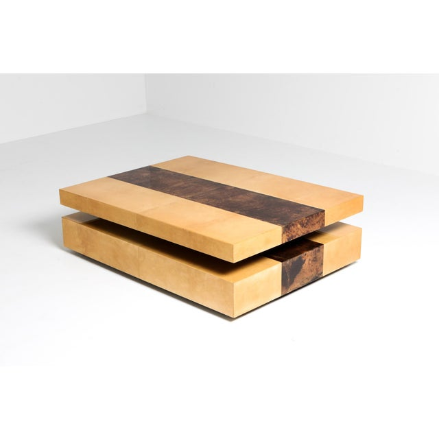 Aldo Tura Two-Tier Sliding Coffee Table For Sale - Image 6 of 12