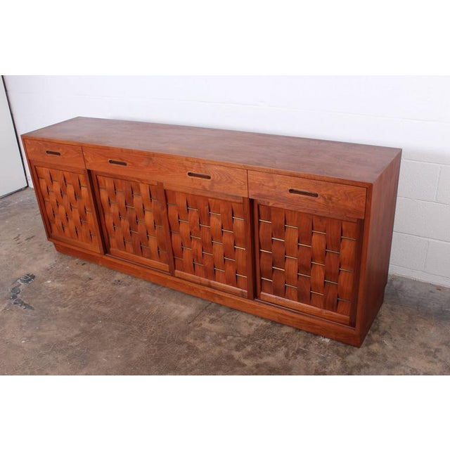 Woven Front Cabinet by Edward Wormley for Dunbar For Sale In Dallas - Image 6 of 10