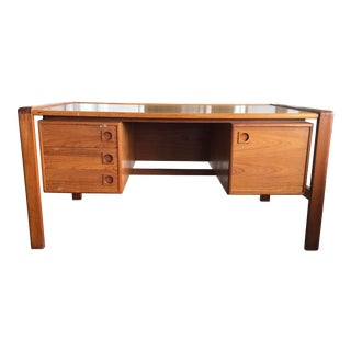 1960s Danish Modern Executive Desk For Sale