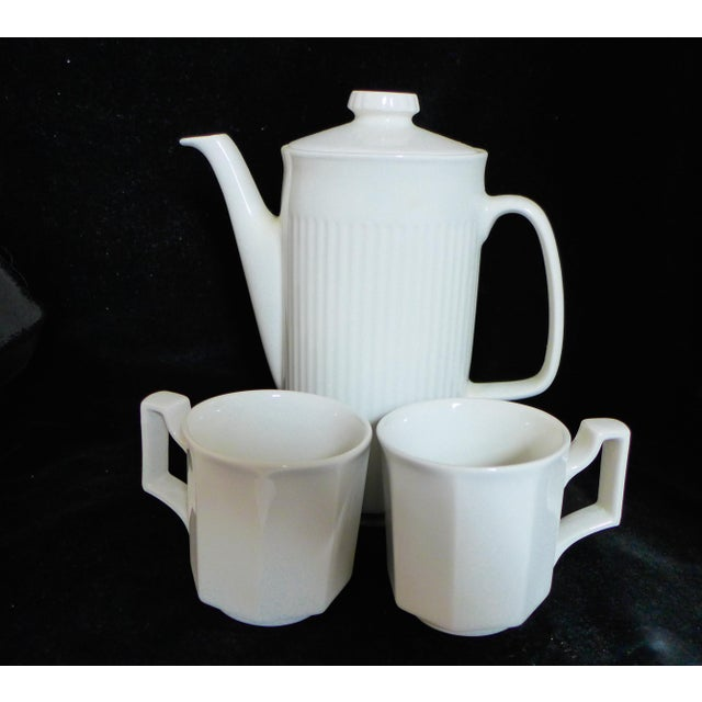 Cottage White Ironstone Tea Service Set - 3 Pieces For Sale - Image 3 of 7