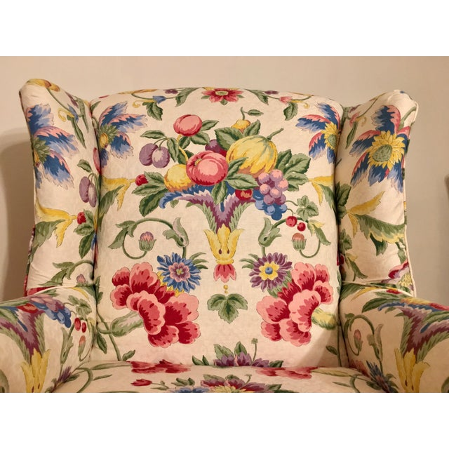 Newly Upholstered Georgian Style Wingback Chairs - a Pair For Sale - Image 9 of 11