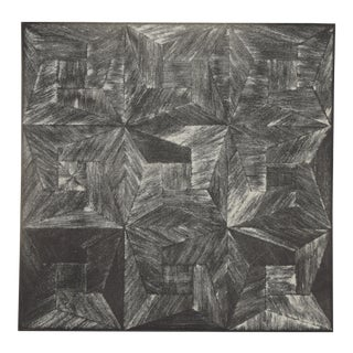 1972 Michiko Itatani Black & White Geometric Etching For Sale