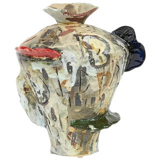 Translated Ceramic Vase 2 from Korean-American David T. Kim For Sale