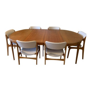 Mid-Century Modern Faarup Mobelfabrik Teak Dining Set - 7 Pieces For Sale