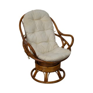 Rattan Swivel Lounge Chair For Sale