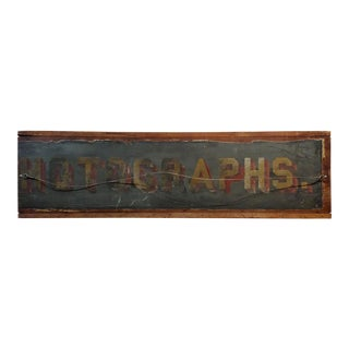 19th Century Rare Original Advertising Sign - Frame Made to Order For Sale