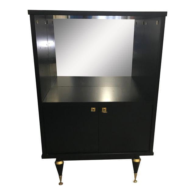 1940's French Art Deco Ebonized Dry Bar Cabinet For Sale - Image 13 of 13