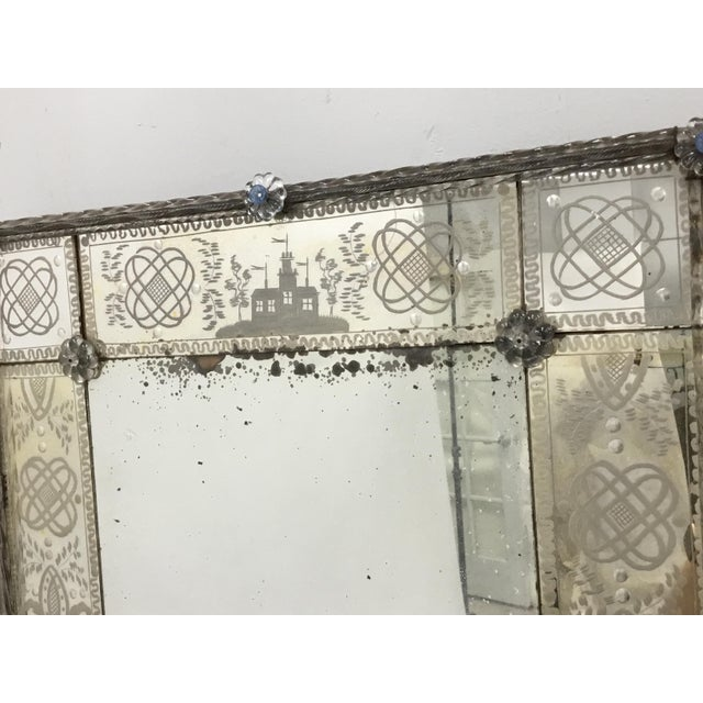 Traditional 19th Century Antique Italian Venetian Mirror For Sale - Image 3 of 12