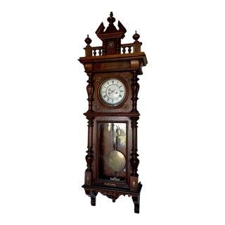 Antique Gustav Becker Vienna Regulator Wall Clock For Sale