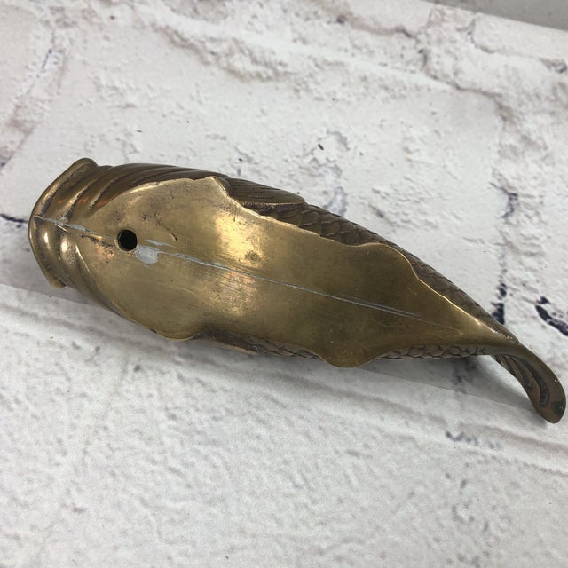 Mid Century Brass Koi Fish Wall Hanger For Sale In Birmingham - Image 6 of 7