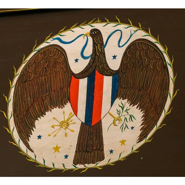Americana Americana Blanket Chest, circa 1900, Hand-Painted by American Folk Artist Lew Hudnall For Sale - Image 3 of 6
