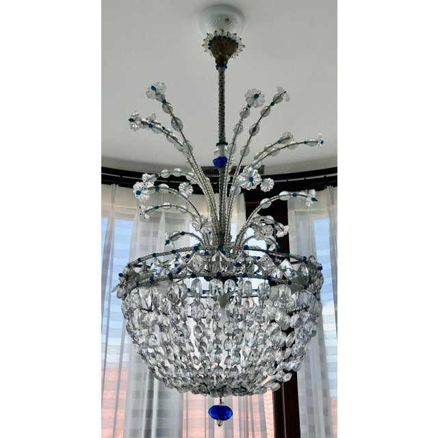 1940s Mid Century French Crystal Chandelier For Sale - Image 13 of 13