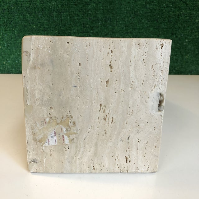 Tan Mid Century Travertine Obelisk For Sale - Image 8 of 9