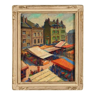 """""""Market Day, Orleans, France"""" Painting"""