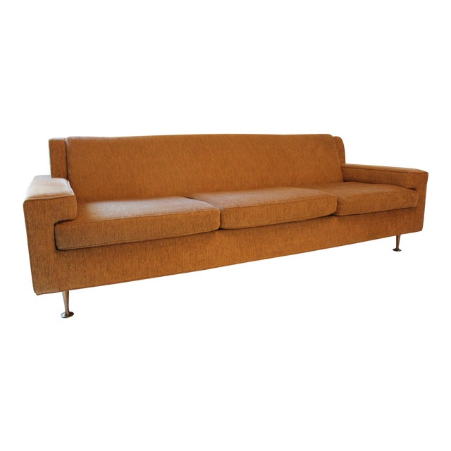 Contemporary Mid-Century Modern Style Sofa For Sale