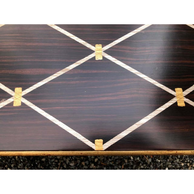 Amy Howard Inlaid Wood Coffee Table For Sale - Image 4 of 12
