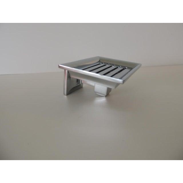 Mid-Century Modern Restoration Hardware Small Shower Basket Satin Nickel For Sale - Image 3 of 7