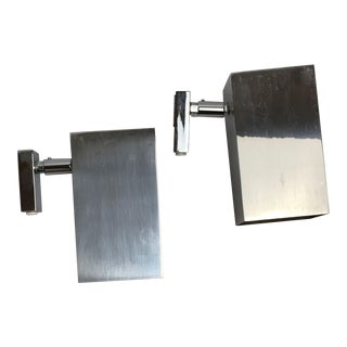 Koch & Lowy Adjustable Chrome Wall Sconces For Sale
